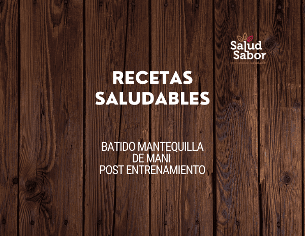 BATIDO MANTEQUILLA DE MANI